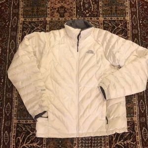 North face white puffer jacket!